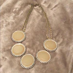 Banana Republic cream & gold statement necklace